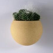 Kamena zidna saksija sa magnetom LUNA - Žuta - 00932