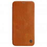 Capa Flip Nillkin Qin para iPhone XS Max - Castanho