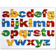 SHRIBOSSJI Small Alphabet Insert Board - Wooden Educational Toys (Multicolor)
