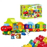 Train Building Sets Blocks Number Learn to Count 50 pcs Compatible with LEGO Ideal to toddlers Preschool Toy