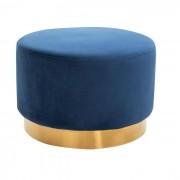 IDIMEX Tabouret pouf SESTO, en velours bleu