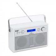 Akkord Digitalradio portabel DAB+/PLL-UKW Radio Alarm LCD weiß