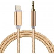 1m Weave Style C * Macho A Macho De 3,5 Mm Cable De Audio Para Samsung Galaxy S8 S8 + / Lg G6 / Huawei P10 Y P10 Plus / Xiaomi Mi6 Y Max 2 Y Otros Smartphones (oro)