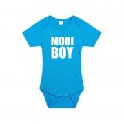 Bellatio Decorations Mooiboy tekst rompertje blauw baby