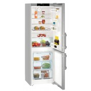 Combina frigorifica Liebherr CNef 3515, 308 L, No Frost, Display, Control electronic, Raft sticle, SuperCool , Alarma usa, H 181.7 cm, A++, Uşi inox cu finisaj antiamprentă