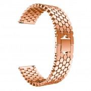 Aluminium Alloy Bracelet Scales Watch Band for Huawei Watch GT/Honor Watch Magic 22mm - Rose Gold