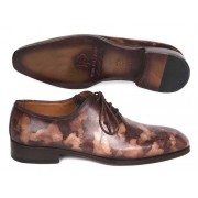 Paul Parkman Camouflage Hand Painted Wholecut Oxford Shoes Brown CM37BRW