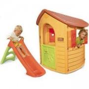 Детска къща за игра с пързалка Natur Home, Smoby, 310151