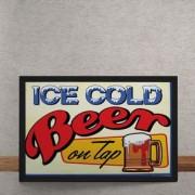 Quadro Decorativo Cerveja Gelada Retrô 25x35