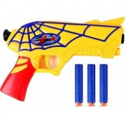 New Pinch Super Hero Soft Bullets Gun with 3 Foam Bullets - Multi Color