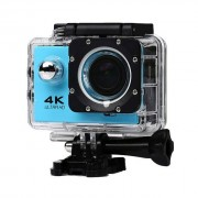 Camera video sport profesionala 4K Ultra HD, Wi-Fi rezistenta la apa, culoare Albastru