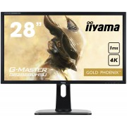 iiyama 28' Gaming, G-Master Golden Phoenix, 3840x2160, 4K UHD, FreeSync, Height Adjust. (13cm), 300cdm², Speakers, DisplayPort, 3xHDMI (MHL), VGA, 1ms, USB HUB (3.0), Black Tuner