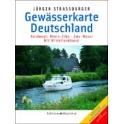 Waterkaart Gewässerkarte Deutschland: Nordwest   Maritim