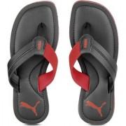 Puma Men's Black and Red Flip Flops