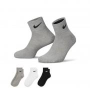 Nike Lightweight Quarter– Chaussettes (taille L/3 paires) - Noir