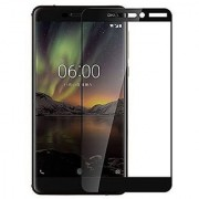 Nokia 6.1 (2018) Anti Scratch Crystal Clarity 5D Quality (Full Glue) Tempered Glass Screen Protector 9h (Black)