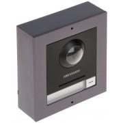 Kit videointerfon modular si accesorii pentru montaj aplicat Hikvision DS-KD8003-IME1/S, camera 2 MP, IR 2 metri, 1 buton de apelare, 12V, PoE
