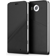 Husa Flip cover Mozo 950FBGWN, cu NFC si Wireless Charging (Qi), pentru Microsoft Lumia 950 (Negru)