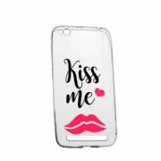 Husa Silicon Transparent Slim Kiss Me 103 Xiaomi Redmi 5A