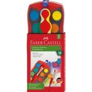 Acuarele Connector Rosu 12 culori Faber-Castell