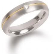 Boccia Titanium Titanový snubní prsten s diamantem 0130-06 55 mm