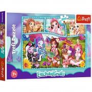 Puzzle clasic pentru copii - Enchantimals Prieteni Extraordinari 200 piese, Trefl