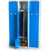 Öltözőszekrény szürke/kék 4911