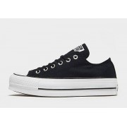 Converse Chuck Taylor All Star Lift Canvas Low Top Dames - Black/White - Dames