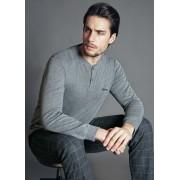 Pigiama da uomo Enrico Coveri ep6046 invernale manica lunga in caldo cotone grigio