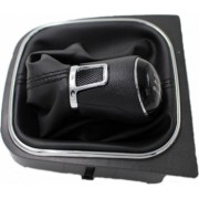 Maner/Nuca schimbator 5 viteze negru + manson schimbator compatibi VW Golf 6 Motor Starter