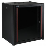 """19"""" комуникационен шкаф MIRSAN MR.WTN07U66.01, 600 x 600 x 423 мм, D=600 мм / 7U, черен, за стена"""