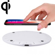5V 2A Fast Charging Qi Wireless Charger Pad Station with Micro USB Cable For iPhone Galaxy Huawei Xiaomi LG HTC and Other QI Standard Smart Phones (White)