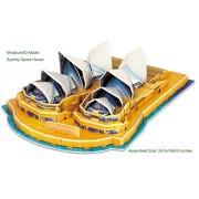 3D Puzzle - Sydney Opera House Miniature Architecture, 34 pieces by Miniature3D
