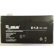 Acumulator 12V 1.2Ah cu Plumb Acid, Zeus