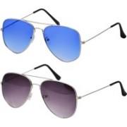 Freny Exim Aviator Sunglasses(Blue, Violet)