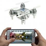 Cheerson CX-10W 4CH 2.4GHz 6 Axis Gyro iOS / Android APP Wifi Romote Control RC FPV Real Time Video Mini Quadcopter Helicopter Drone with 0.3MP HD Camera Silver by