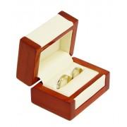 Dřevěná dárková krabička na snubní prsteny DN-7/A20
