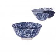 Xenos Schaal blue print - diverse varianten - ø15 cm