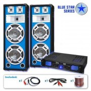 "Electronic-Star Blue Star Series ""Bass Core"" Set Altavoces PA DJ 2600W (BS-Basskern)"