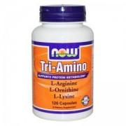 Три-Амино - Tri-Amino Arginine, Ornitine, Lysine - 120 капсули - NOW FOODS, NF0152