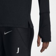 Женская беговая футболка с молнией на половину длины Nike Element