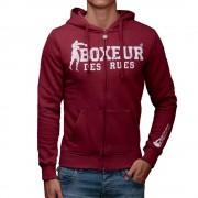 Boxeur Des Rues Felpa da Uomo Full Zip con Cappuccio, Taglia: S, Per adulto Uomo, Rosso, BXE-4557B 46