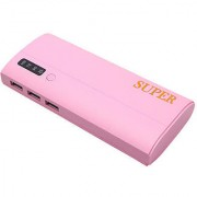 Orenics 3 USB ports with percentage indicator 20000 mah power bank (pink)