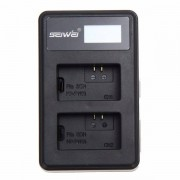 Canon SEIWEI LP-E6 USB Dual Channel Rapid Battery Charger with LED Screen for Canon EOS 5D2,EOS 5D3