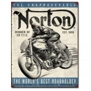 """Sign - Norton - World's Best Roadholder"""