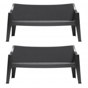 SCAB Design Set 2 Banken Coccolona Sofa - Antraciet Grijs