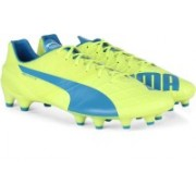 Puma evoSPEED 1.4 FG Men Football Studs(Blue, White, Yellow)