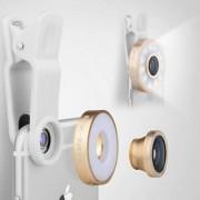 Techfi Smart Selfie Cam Pro 6 x 1 Multi Led Lens - Fish Eye Macro and Wide Angle Lens Beauty Mobile Phone Lens