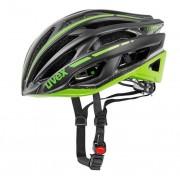 Moto sisak Uvex 14 Race 5, black sakk és matt green