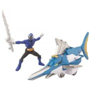 Power Rangers Zord Vehicle with Figure, SwordfishZord and Blue Ranger